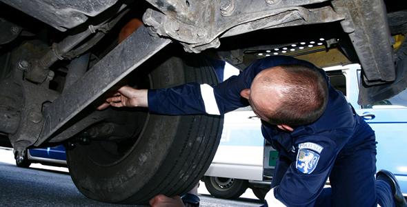 Politseinikud kontrollisid möödunud nädalal veokite ja busside tehnilist seisukorda