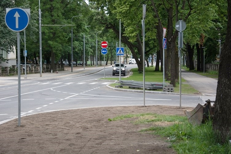 Liiklusele avatud Weizenbergi tänav muutus osaliselt ühesuunaliseks