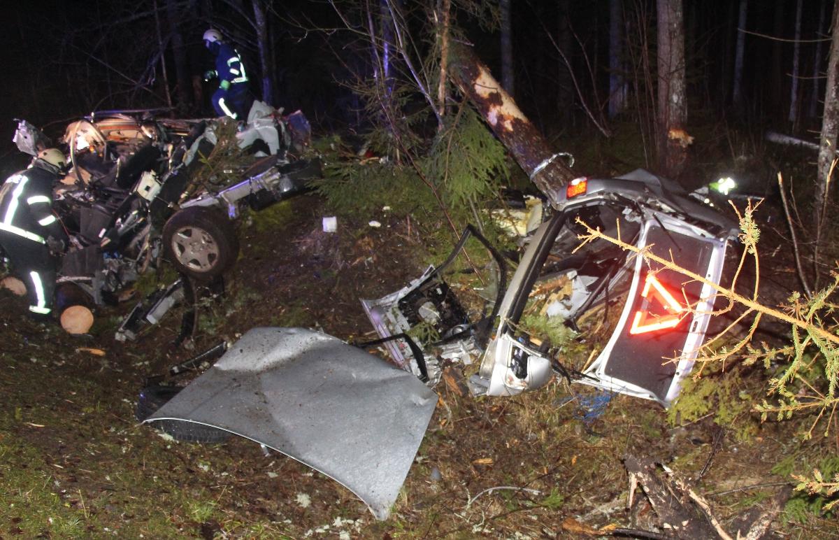 Tartumaal hukkus suurel kiirusel teelt välja sõitnud autojuht