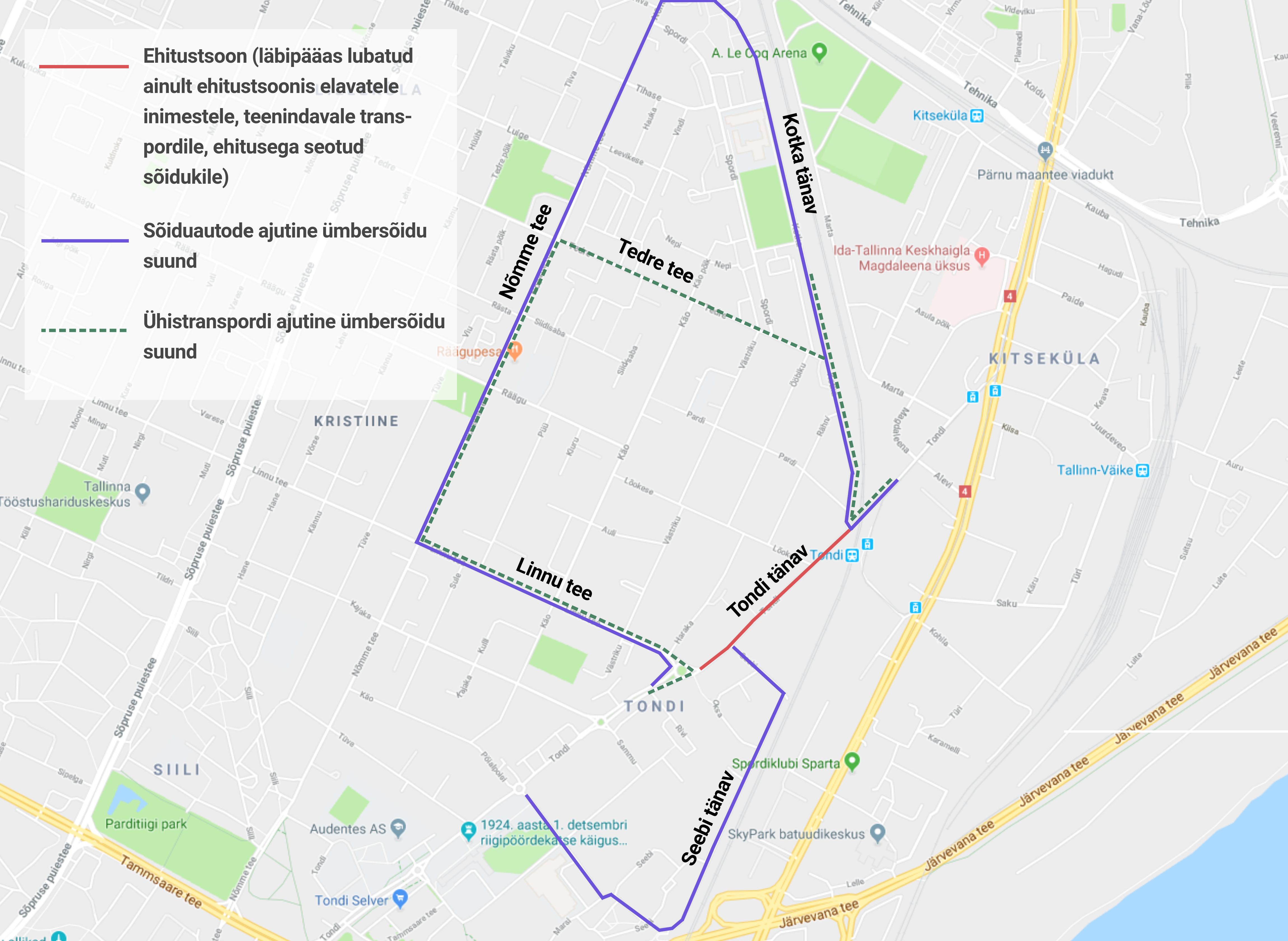 Kaart: esmaspäeval algab Tondi tänaval remont