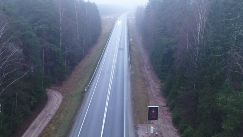 Maanteeamet paigaldas Kasti ristmikule uudse adaptiivse kiiruspiirangu süsteemi